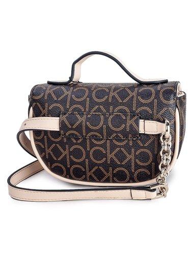 Calvin Klein hnědá ledvinka Saddle Balt Bag