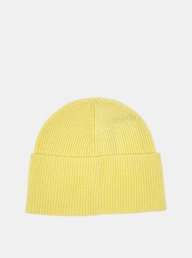 Žlutá dámská vlněná čepice Lacoste