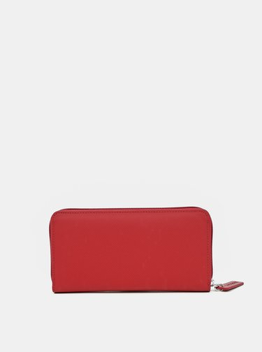 Červená dámska peňaženka Lacoste