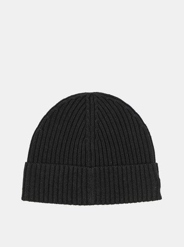 Černá vlněná čepice Lacoste