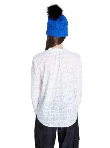 Desigual bílá košile Blus Lettering
