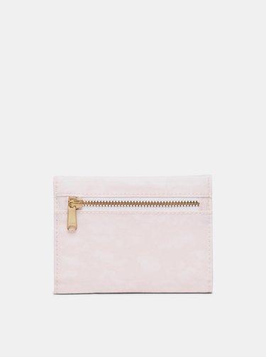Ružová kožená peňaženka Herschel Supply