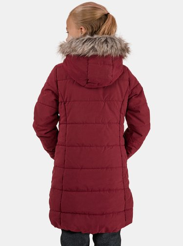 Vínový dievčenský prešívaný kabát SAM 73