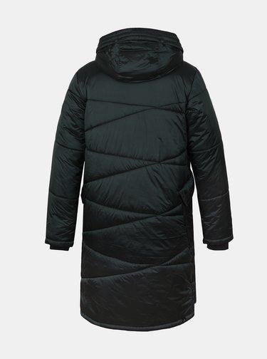 Tmavě zelený dámský prošívaný zimní kabát Hannah