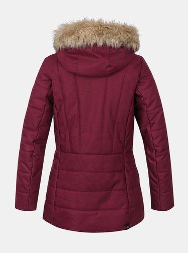 Vínová dámska zimná bunda Hannah