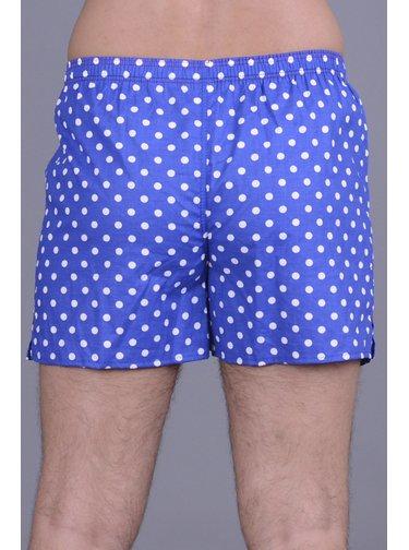 Emes modré pánské trenýrky s puntíky