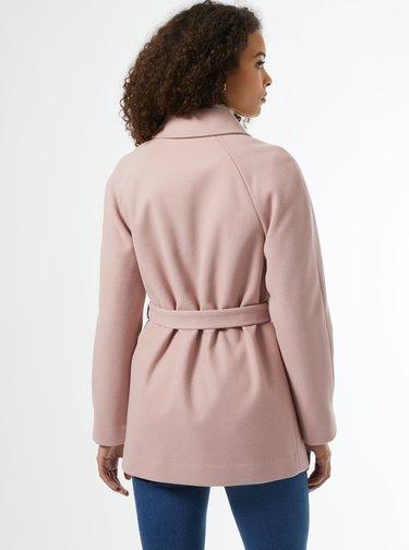Růžový krátký kabát Dorothy Perkins Tall