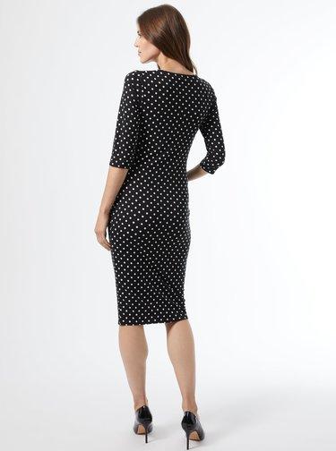 Černé puntíkované pouzdrové těhotenské šaty Dorothy Perkins Maternity