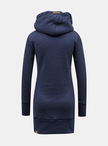 Tmavě modrá dámská dlouhá mikina s kapucí Ragwear