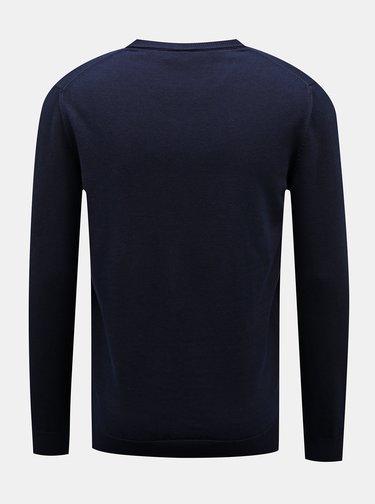 Tmavě modrý pánský svetr Lacoste