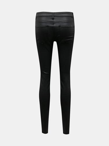 Čierne skinny fit nohavice s povrchovou úpravou Noisy May
