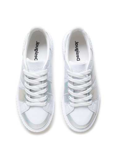Desigual bílé tenisky Shoes Comet Iridiscent