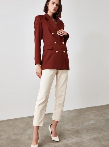 Hnedé dámske sako Trendyol