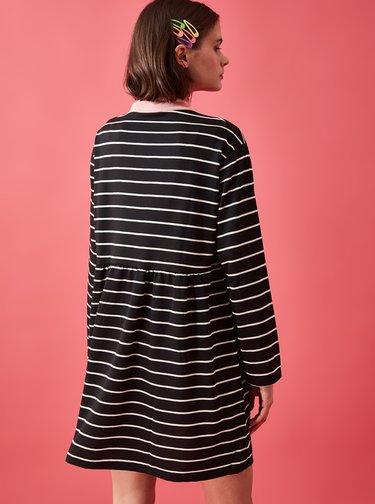 Černé pruhované šaty Trendyol