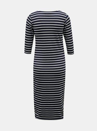 Tmavě modré pruhované pouzdrové těhotenské šaty Dorothy Perkins Maternity