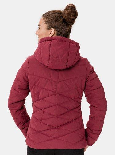 Vínová dámská zimní prošívaná bunda SAM 73