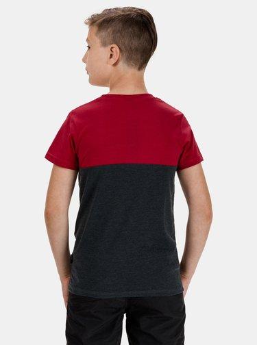 Červeno-šedé chlapčenské tričko SAM 73