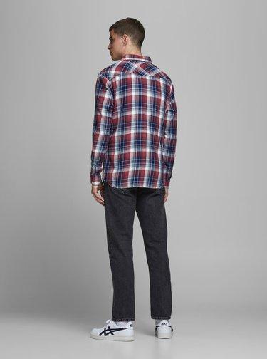 Červeno-modrá kockovaná košeľa Jack & Jones