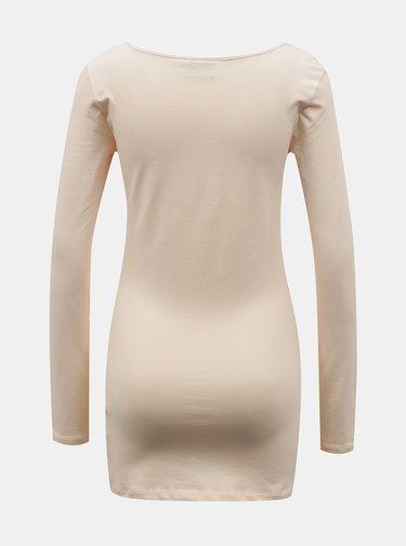 Tricouri basic pentru femei VERO MODA - crem