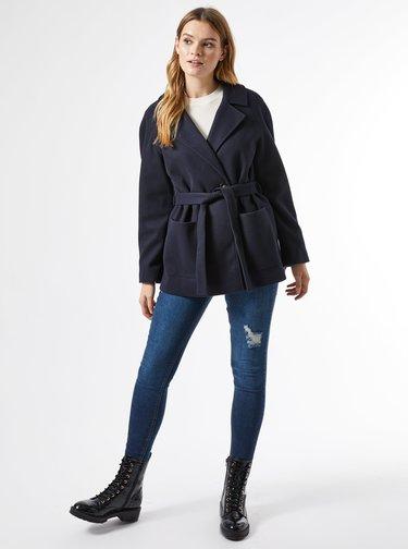 Tmavomodrý krátky kabát Dorothy Perkins