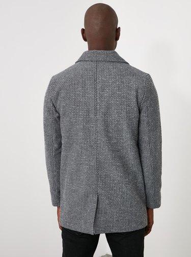 Šedý pánský kabát Trendyol