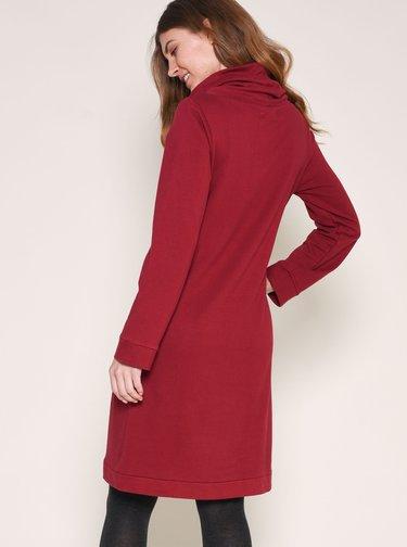 Vínové mikinové šaty Brakeburn