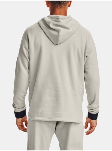 Mikina Under Armour Charged Cotton FLC FZ HD-WHT