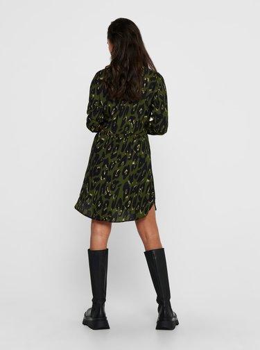 Zelené květované košilové šaty ONLY Cory