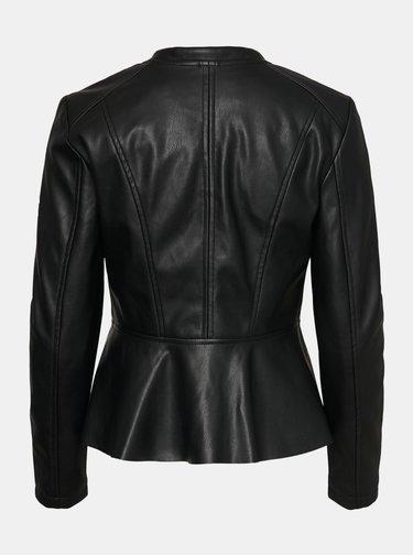 Černá koženková bunda VERO MODA Butteralba