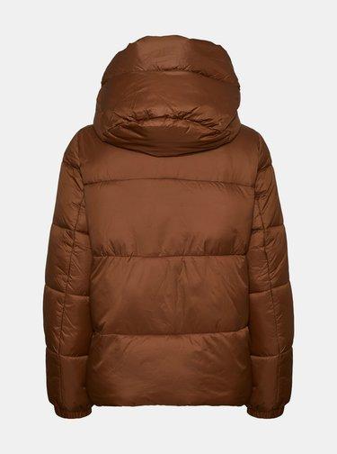 Hnědá prošívaná zimní bunda VERO MODA Upsala
