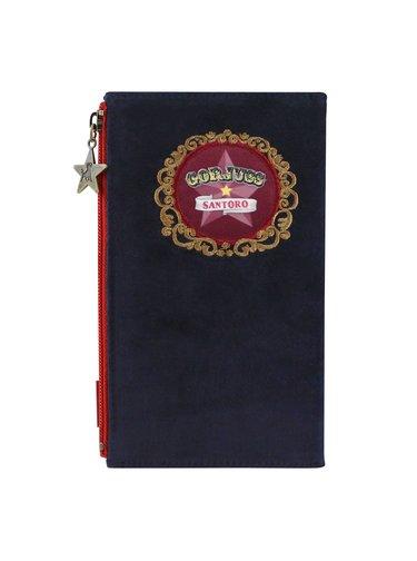 Santoro modrá velká peněženka Gorjuss Circus Harlequin