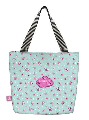 Santoro tyrkysová obědová taška Gorjuss Sparkle&Bloom Cherry Blossom