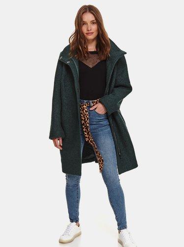 Zelený vlněný kabát TOP SECRET