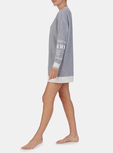 Šedá dlouhá mikina DKNY