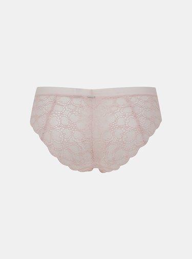 Růžové krajkové kalhotky DKNY