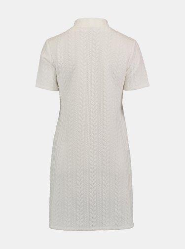 BIele šaty so stojáčikom Hailys