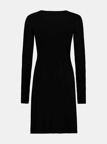 Černé pouzdrové svetrové šaty Hailys