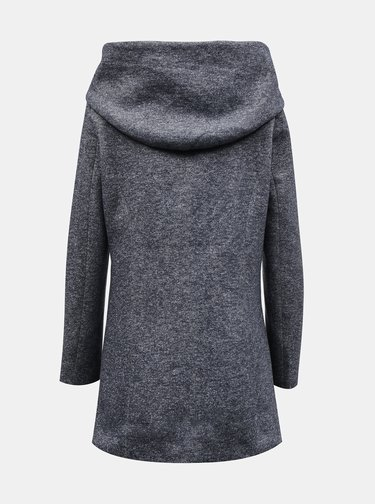Šedý zimný kabát s kapucou VERO MODA