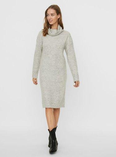 Světle šedé svetrové šaty VERO MODA Gaiva