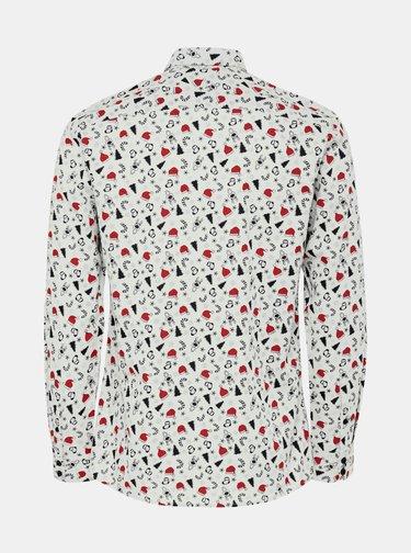 Bílá košile s vánočním motivem ONLY & SONS Xmas