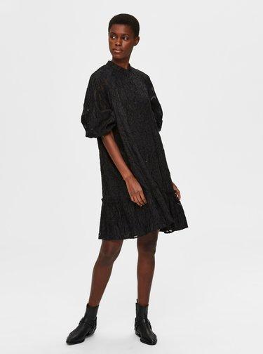 Čierne krajkové šaty Selected Femme