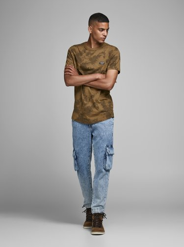 Hnědé tričko Jack & Jones
