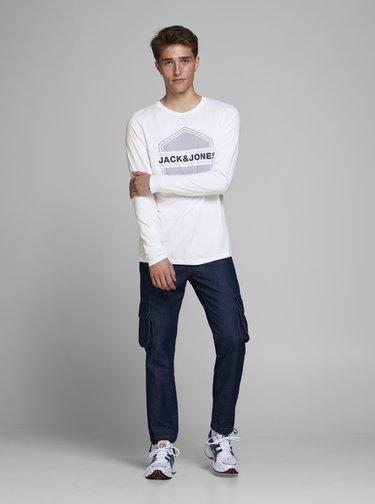 Bílé tričko Jack & Jones Pendent