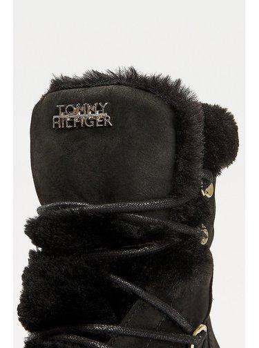 Tommy Hilfiger černé zimní boty Tommy Warm Lined Lace Up Bootie Black