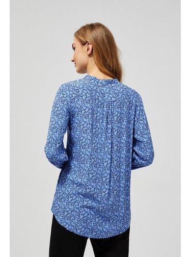 Moodo modrá košile s drobným vzorem