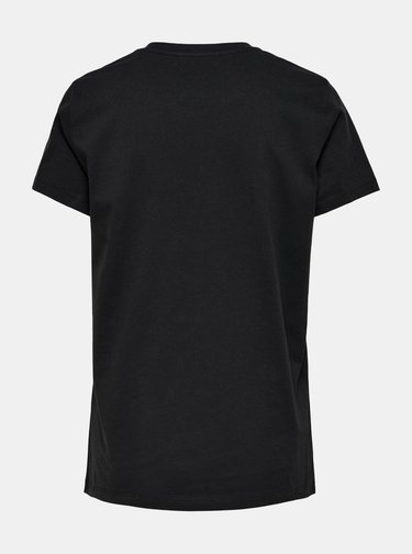 Černé tričko s potiskem ONLY Gabriella