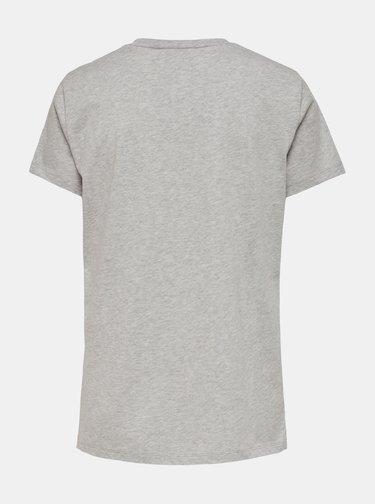 Čierne tričko s potlačou ONLY Gabriella