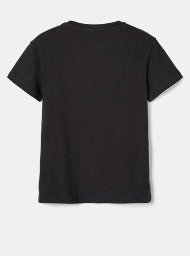 Čierne chlapčenské tričko s potlačou name it