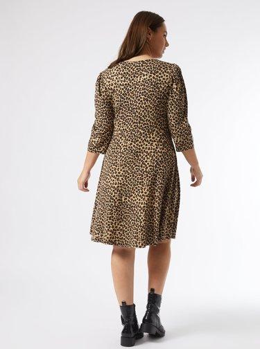 Béžové vzorované šaty Dorothy Perkins Curve