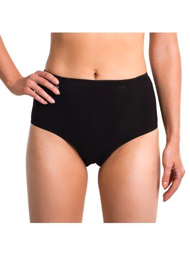 Formující kalhotky COTTON FORMSLIP - Dámské bavlněné formující kalhotky - černá